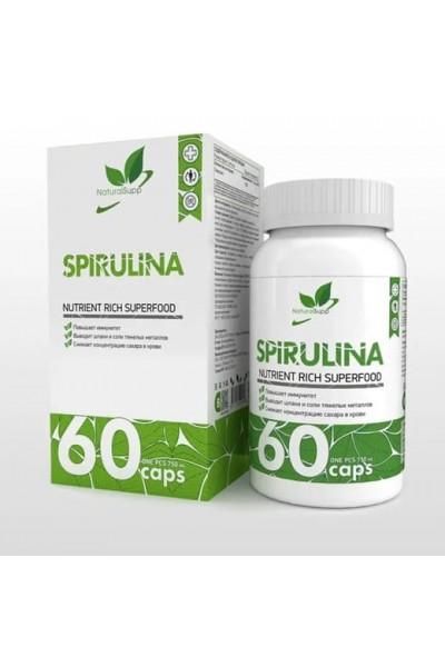 Спирулина (Spirulina) NaturalSupp, 60 капсул