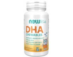 DHA Chewables (ДГК жевательные) от NOW Kids (60 капс)