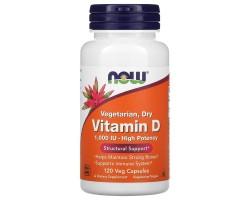 Vitamin D 1000 (120 veg. caps) от NOW