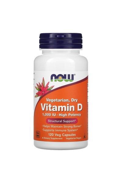 Витамин D 1000 NOW Foods (120 вег. капсул)