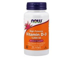 Витамин D3 1000 Softgels от NOW